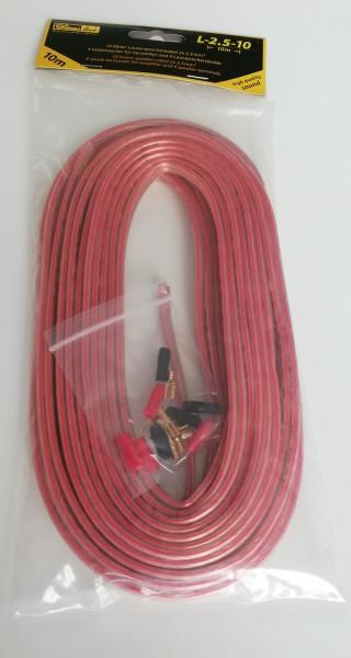 B-Ware L-2,5-10 Lautsprecherkabel 2,5mm² 10m mit Stecker (Auftruck 1,5mm²)