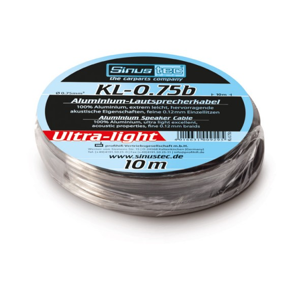 10 Set Sinustec KL-0,75b 10m Lautsprecherkabel 0,75mm² Kabelset mit Stecker