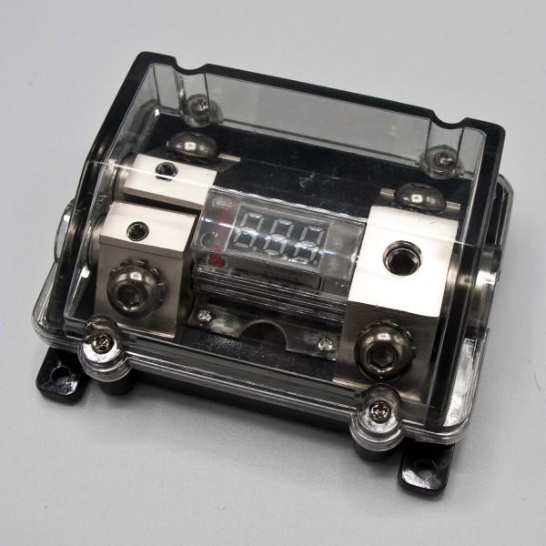 B-Ware SVB Sicherungsverteilerblock für ANL Sicherung mit roter digital Voltanzeige